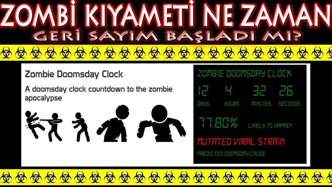Zombi istilası için geri sayım yapan zombieclock.com sitesini inceledik. Zombi saati Virüs ne zaman olacak tüm gerçekleriyle videomuzda