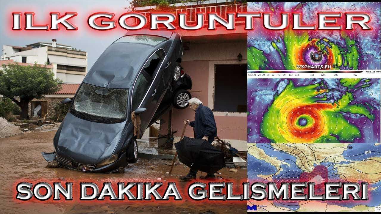 Kırbaç Kasırgası ilk görüntüler Tropical Medicane İzmir ve Yunanistan