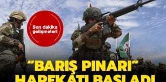 """Başkan Erdoğan, """"Türk Silahlı Kuvvetleri'mizSuriyeMilli Ordusu'yla birlikte Suriye'nin kuzeyinde PKK/YPGve DEAŞ terör örgütlerine karşı Barış Pınarı Harekatı'nı başlatmıştır. Amacımız, güney sınırımızda oluşturulmaya çalışılan terör koridorunu yok etmek ve bölgeye barış ve huzuru getirmektir"""