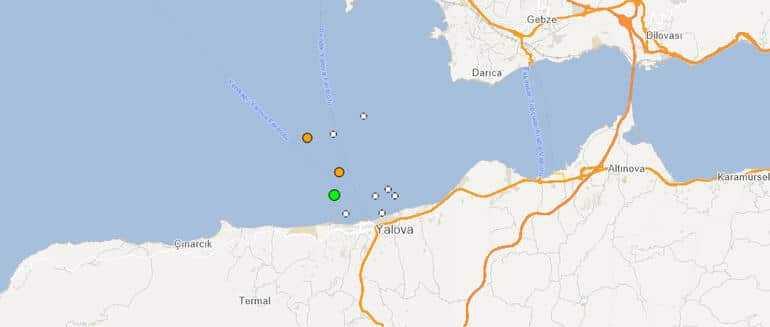 Yalova'da 20:04'te 3.0, 20.09'da 3.2 ve 22:32'de 3.5 büyüklüğünde üç deprem daha ölçüldü. AFAD'ın 3.5 olarak açıkladığı depremi Kandilli 3.7 olarak duyurdu.