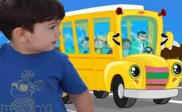 İngilizce Çocuk Şarkılarından WHEELS ON THE BUS şarkısı (otobüsün tekerliği)