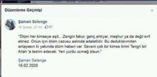 sahtekar şaman selenge facebook hesabı
